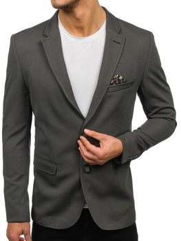 Мужской элегантный пиджак зеленый Bolf303