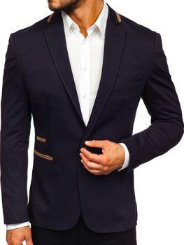 Мужской элегантный пиджак темно-синий Bolf 9400