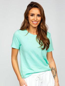 Мятная женская футболка с принтом Bolf SD211