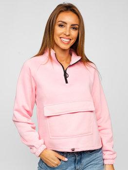 Розовая женская толстовка Bolf KSW2032