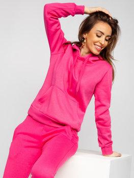 Розовый женский спортивный костюм с капюшоном Bolf 0002