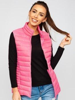 Розовый стеганый женский жилет Bolf 23038