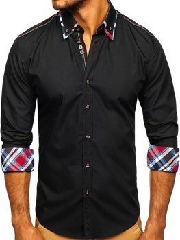 Рубашка мужская BOLF 3701 черная