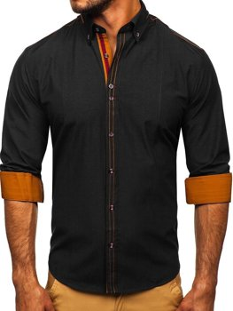 Рубашка мужская BOLF 4707 черная