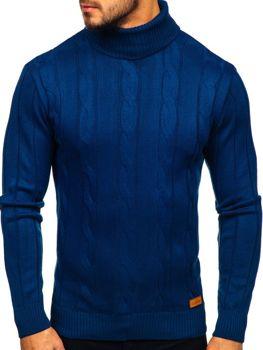 Свитер мужской гольф синий Bolf 5021