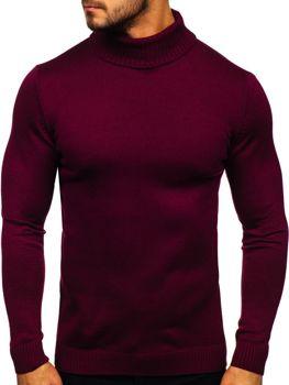 Свитер мужской гольф темно-бордовый Bolf 4519