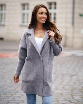 Серое женское пальто Bolf 7108