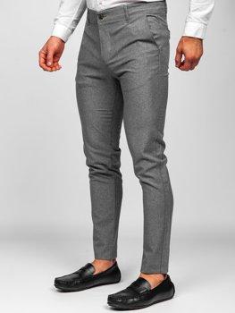 Серые  мужские брюки чиносы Bolf 0016