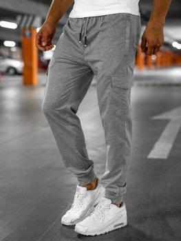 Серые мужские спортивные брюки Bolf JX326