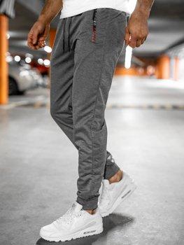 Серые мужские спортивные брюки Bolf JX9515
