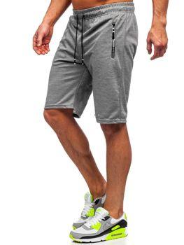 Серые мужские спортивные шорты Bolf JX106