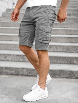 Серые мужские шорты карго Bolf DF3053