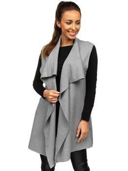 Серый женский свитер кардиган без рукавов Bolf AL0220l