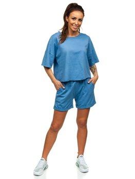 Синий женский спортивный комплект Bolf 6256