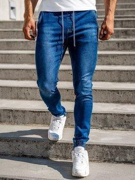 Темно-синие джинсовые мужские джоггеры Bolf KA1322