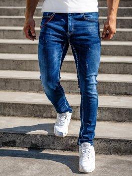 Темно-синие мужские джинсовые брюки regular fit Bolf 80025W0