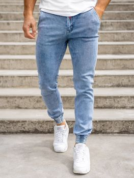 Темно-синие мужские джинсы джоггеры KA1766