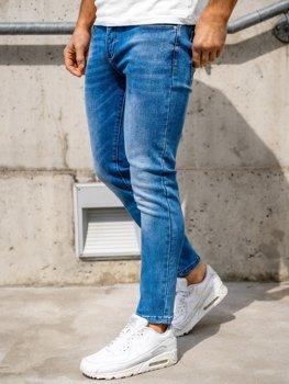 Темно-синие мужские джинсы skinny fit Bolf KX397
