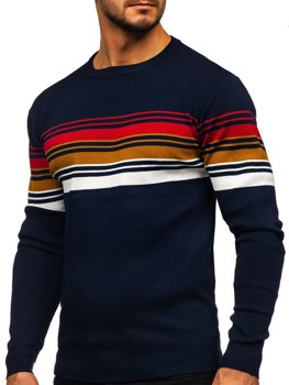 Темно-синий мужской свитер Bolf H2061