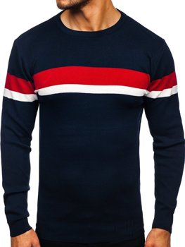 Темно-синий мужской свитер Bolf H2072