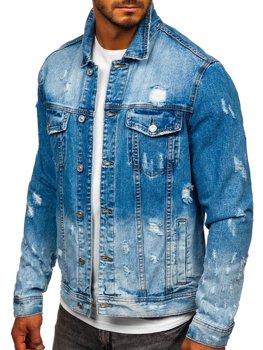 Темно-синяя джинсовая мужская куртка Bolf 6611B
