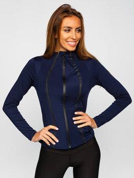 Темно-синяя женская толстовка без капюшона Bolf HH020