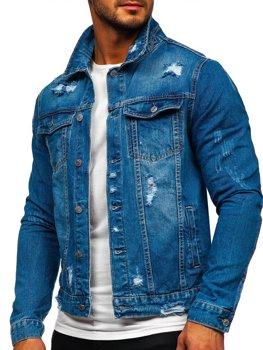 Темно-синяя мужская джинсовая куртка Bolf AK588