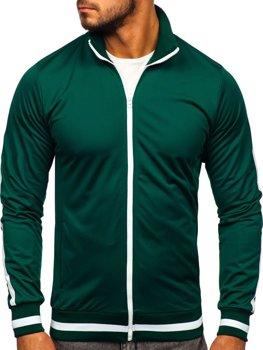 Толстовка мужская без капюшона ретро стиль зеленая Bolf 2126