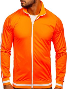 Толстовка мужская без капюшона ретро стиль оранжевая Bolf 2126