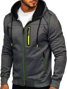 Толстовка мужская с капюшоном графитовая Bolf TC870-1