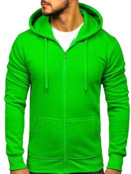 Толстовка мужская с капюшоном светло-зеленая Bolf 2008