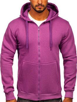 Фиолетовая мужская толстовка с капюшоном Bolf 2008