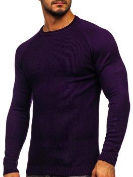 Фиолетовый мужской свитер Bolf 1009