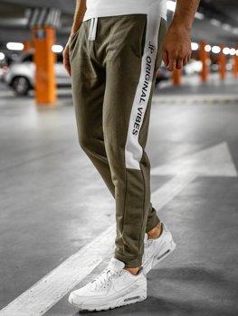 Хаки мужские спортивные брюки Bolf N1216
