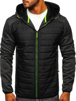 Черная демисезонная мужская куртка Bolf KS2155