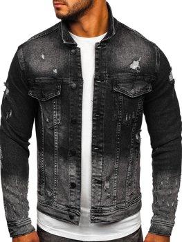 Черная джинсовая мужская куртка Bolf 6614G