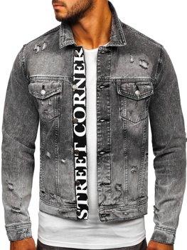 Черная джинсовая мужская куртка Bolf 6670 G