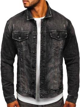 Черная джинсовая мужская куртка Bolf XSF78267