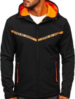 Черная мужская демисезонная куртка softshell Bolf KS2181
