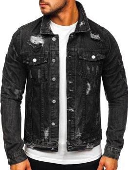 Черная мужская джинсовая куртка Bolf AK588