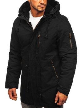 Черная мужская зимняя парка куртка Bolf 5283