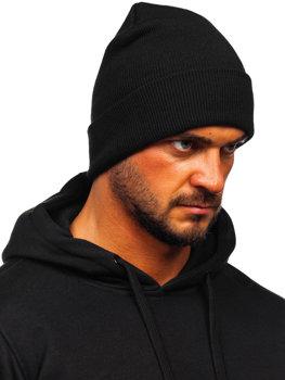Черная мужская зимняя шапка YW09004M