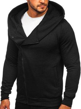Черная мужская толстовка с капюшоном Bolf 80680