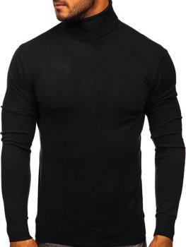 Черная мужской свитер гольф Bolf YY02