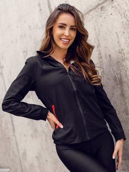 Черная стеганая женская демисезонная куртка Bolf HM097