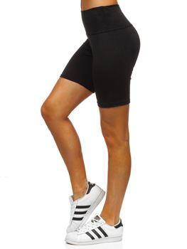 Черные короткие женские леггинсы Bolf 54548