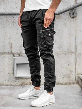 Черные мужские брюки джоггеры-карго Bolf CT6702