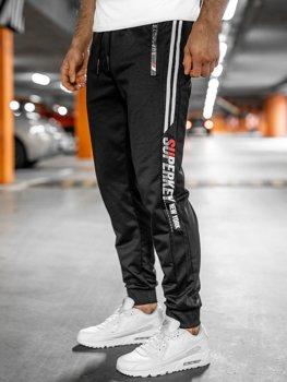 Черные мужские спортивные брюки Bolf JX9511