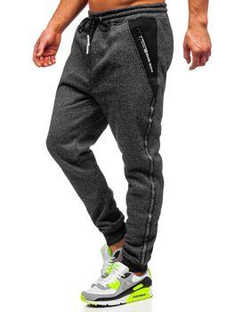 Черные мужские спортивные брюки Bolf TC513