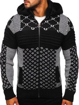 Черный мужской свитер толстой вязки Bolf 2060